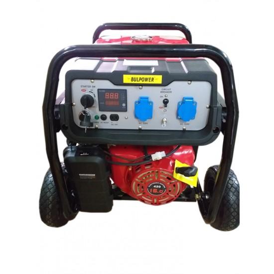 Генератор за ток 7.5 KW Bulpower с вградена автоматика бензин-газ