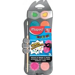 Бои водни МАПЕД ф30 12 цвята в ПВЦ кутия