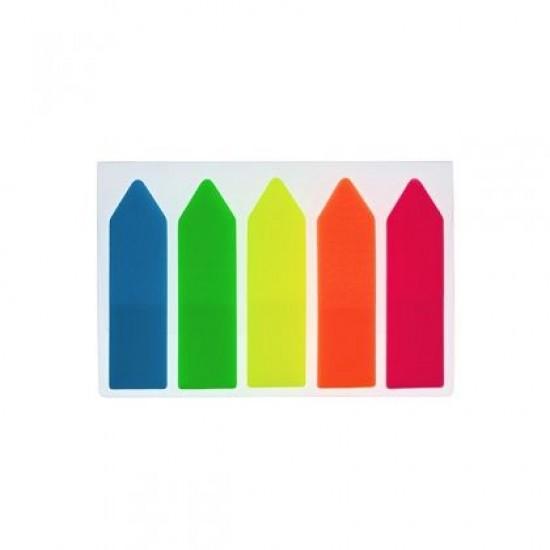 Лепящи индекси Office Point Стрелка, PVC, 45x12 mm 5x25 л.