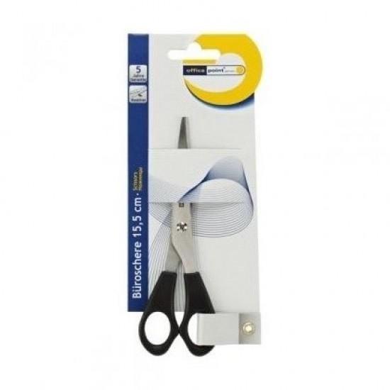 "Ножица Office Point Пластмасови дръжки, 15.5 cm (6"")"