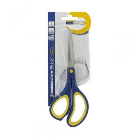 """Ножица Office Point Premium Гумирани дръжки, 19.5 cm (7.5"""")"""