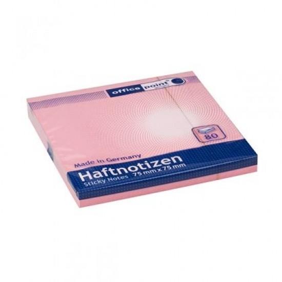 Самозалепващи листчета Office Point 75x75 mm, 80 л.