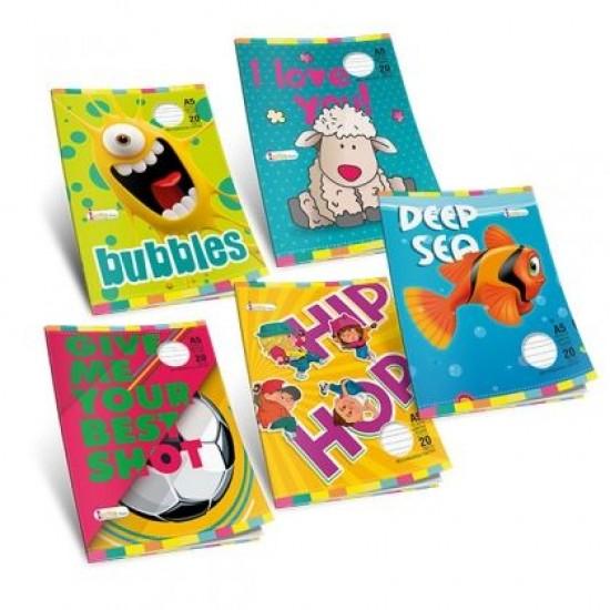 Тетрадка Multiprint Kids Меки корици, А5 20 л. с големи квадратчета